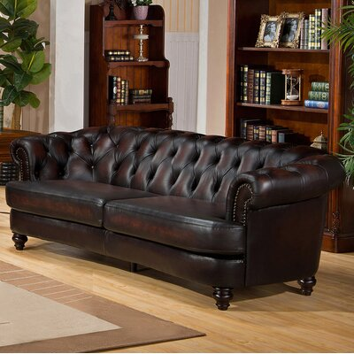 Roosevelt Leather Chesterfield Sofa