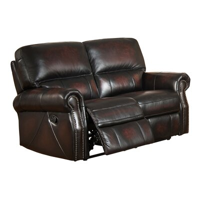 Nevada Leather Reclining Loveseat
