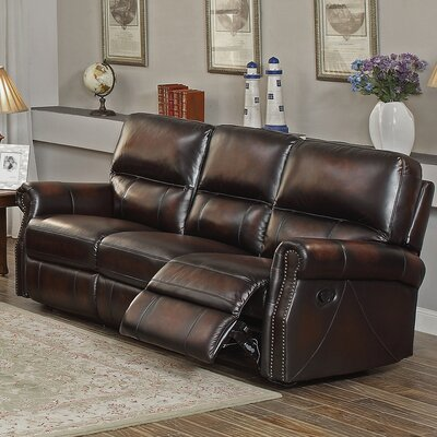 Nevada Leather Reclining Sofa