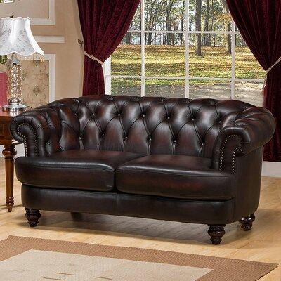 Amax Roosevelt-L Roosevelt Leather Loveseat