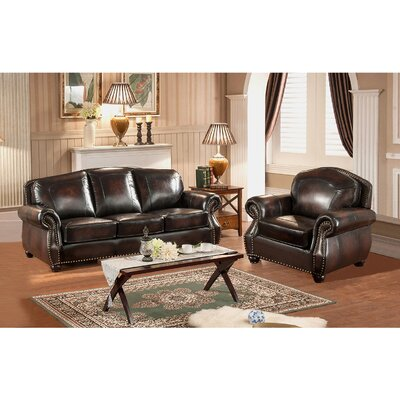 Vail 2 Piece Leather Living Room Set