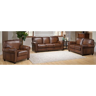 Amax Aspen-SLC Aspen 3 Piece Leather Living Room Set
