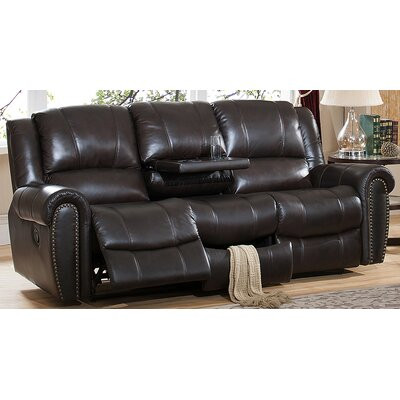 Amax Charlotte-S Charlotte Leather Recliner Sofa