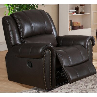 Charlotte Leather Manual Recliner
