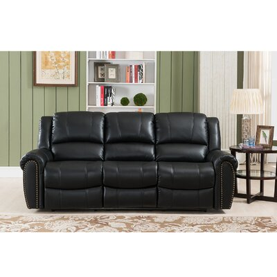 Amax Houston-S Houston Leather Reclining Sofa