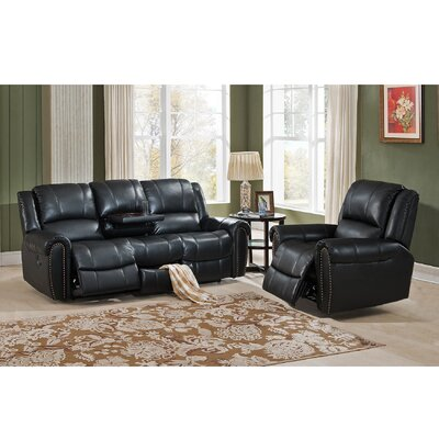 Houston 2 Piece Leather Living Room Set