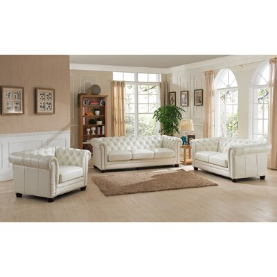 Nashville 3 Piece Leather Living Room Set