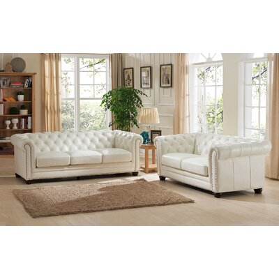 Nashville Leather Sofa and Loveseat Set
