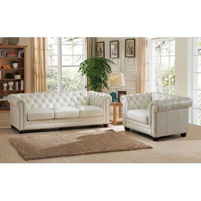 Nashville 2 Piece Leather Living Room Set