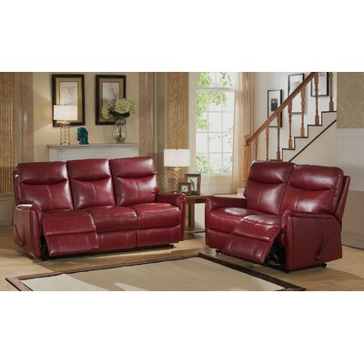 Napa 2 Piece Leather Living Room Set