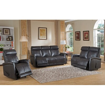 Mosby 3 Piece Leather Living Room Set