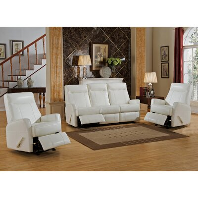 Toledo 3 Piece Leather Living Room Set