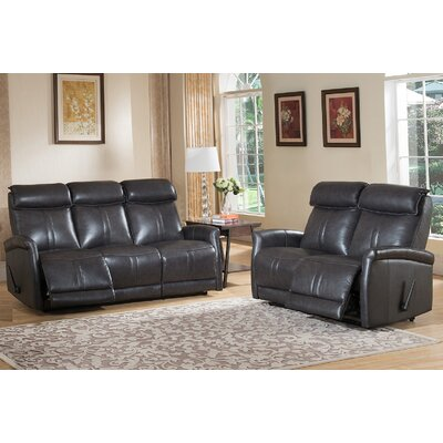 Mosby Leather Sofa and Loveseat Set