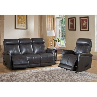 Mosby 2 Piece Leather Living Room Set