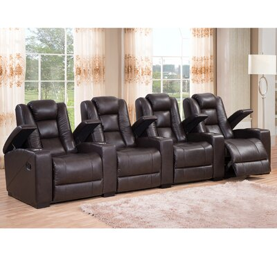 Midway Leather Home Theater Recliner