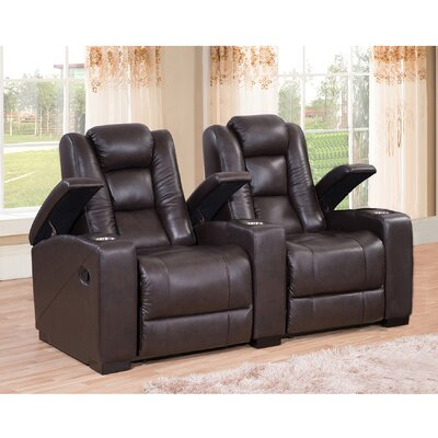 Midway Home Theater Leather Recliner