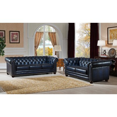 Nebraska 2 Piece Leather Living Room Set