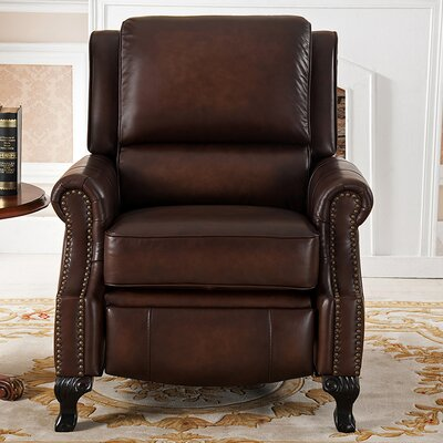 Princeton Top Grain Leather Pushback Recliner