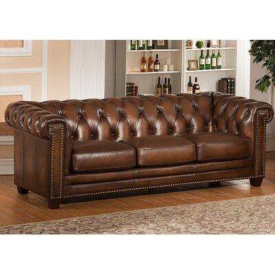 Hickory Leather Sofa