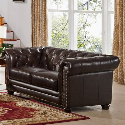 Kensington Top Grain Leather Chesterfield Sofa
