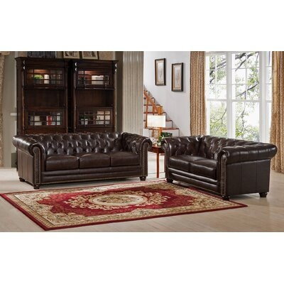 Kensington 2 Piece Leather Living Room Set