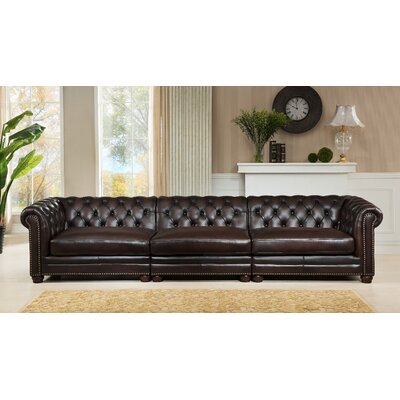 Bakersfield Leather Chesterfield Sofa