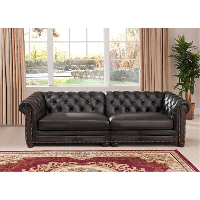 Anaheim Leather Chesterfield Sofa