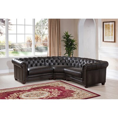 Anaheim Leather Modular Sectional