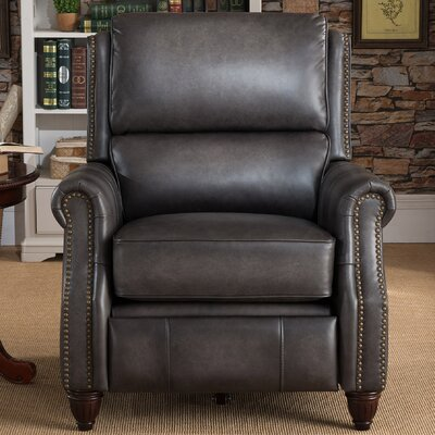 Emery Leather Power Recliner with USB Port
