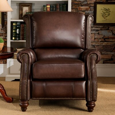 Cornell Leather Manual Recliner