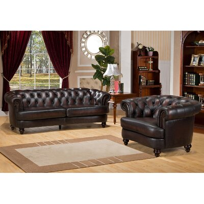 Roosevelt 2 Piece Leather Living Room Set