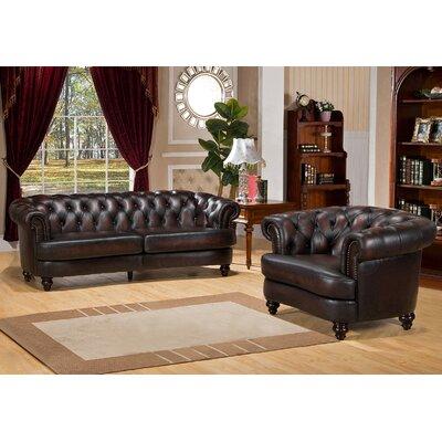 Roosevelt 2 Piece Leather Living Room Set