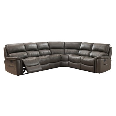 Forbes Leather Reclining Sectional Orientation: Left