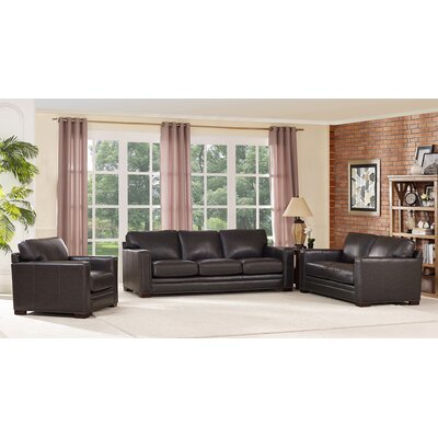 Caitlynne Leather Living Room Set