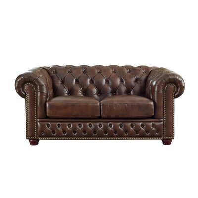 Walsh Leather Chesterfield Loveseat