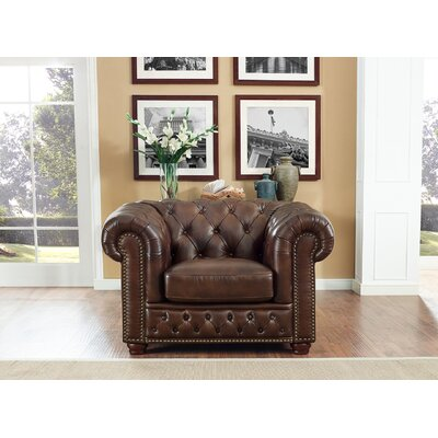 Walsh Leather Chesterfield Chair