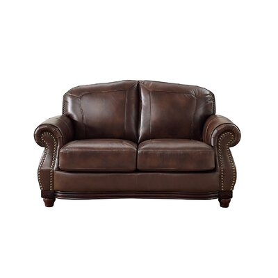 Connersville Leather Loveseat