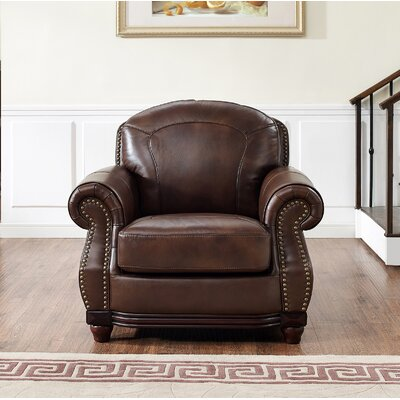 Connersville Leather Club Chair