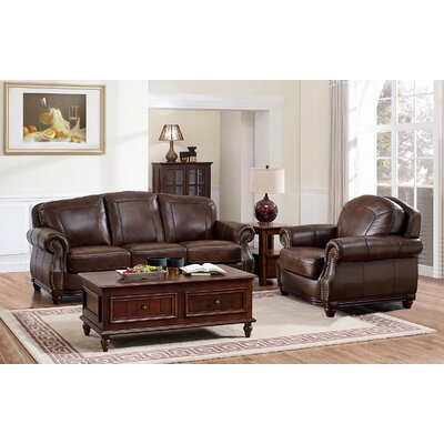 Mendenhall Leather 2 Piece Living Room Set
