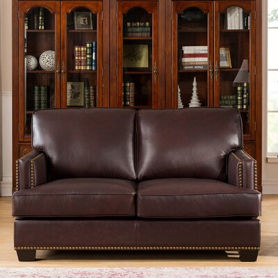 Owens Leather Loveseat