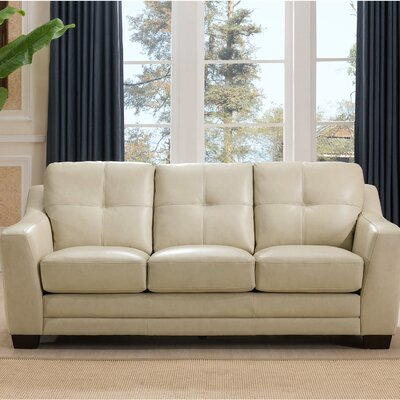 Tiffaney Leather Sofa