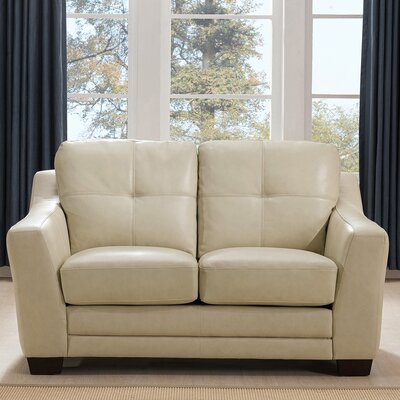 Tiffaney Leather Loveseat