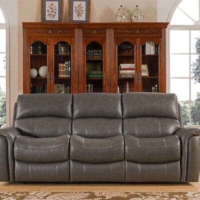 Forbes Leather Reclining Sofa