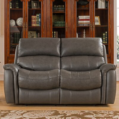 Forbes Leather Reclining Loveseat