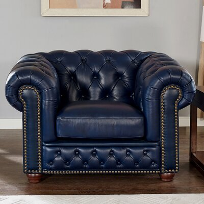 Corbett Leather Club Chair