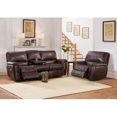 Ayler 2 Piece Leather Reclining Living Room Set