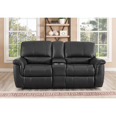 Darby Home Co DABY4635 Averill 2 Piece Leather Reclining Living Room Set