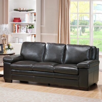 Devry Leather Sofa