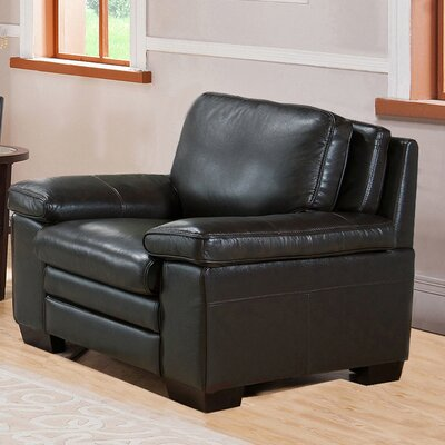 Devry Leather Club Chair