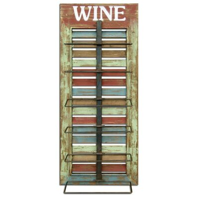 Vintage Window Shutter Wall Mounted Wine Bottle Rack
